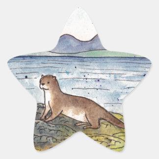otter of the loch star sticker