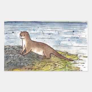 otter of the loch sticker