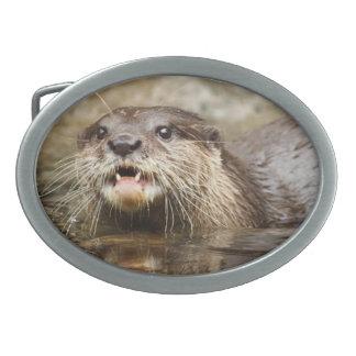 Otter Oval Belt Buckle