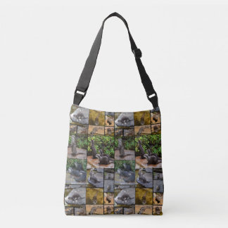 Otter Photo Collage, Full Print Crossbody Bag