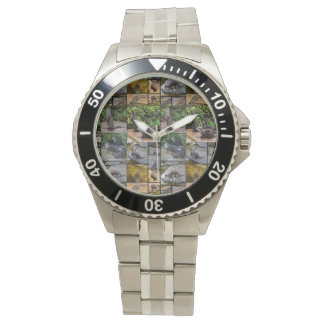 Otter Photo Collage, Mens Stainless Steel Watch