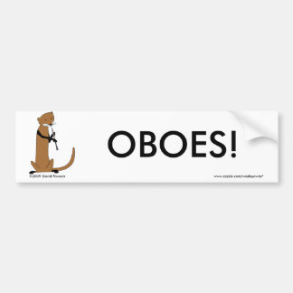 Otter Playing the Oboe Bumper Sticker