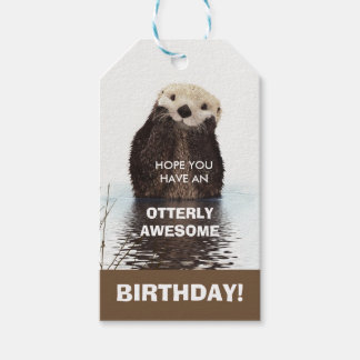 Otter Pun - Otterly Awesome Birthday Gift Tags