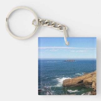 Otter Rock Single-Sided Square Acrylic Keychain