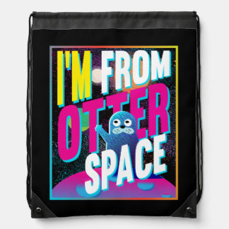 Otter Space - Cute Sea Novelty Drawstring Bag
