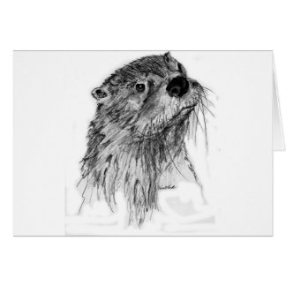 Otter Whiskers Card