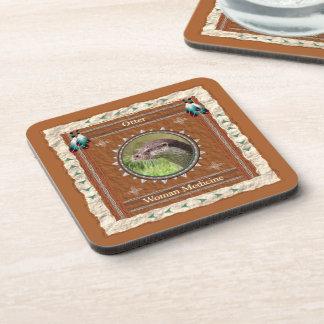 Otter  -Woman Medicine- Cork Coaster Set of 6