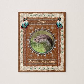 Otter  -Woman Medicine- Jigsaw Puzzle w/ Box