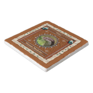 Otter  -Woman Medicine- Marble Stone Trivet