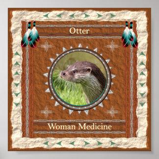 Otter  -Woman Medicine- Poster Print