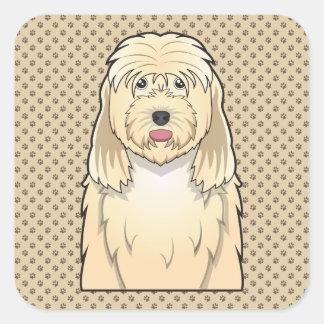 Otterhound Cartoon Square Sticker