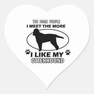 Otterhound designs and gifts heart sticker
