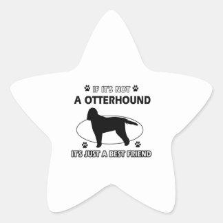 Otterhound dog breed designs star sticker