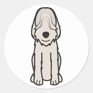 Otterhound Dog Cartoon Round Sticker