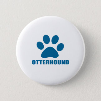 OTTERHOUND DOG DESIGNS 2 INCH ROUND BUTTON