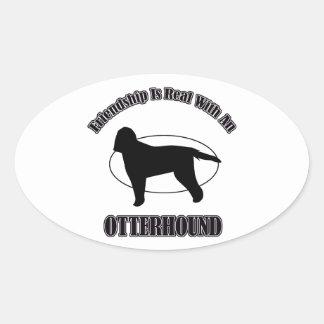 OTTERHOUND DOG DESIGNS OVAL STICKER