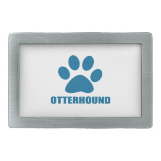 OTTERHOUND DOG DESIGNS RECTANGULAR BELT BUCKLES