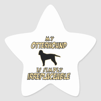 otterhound DOG designs Star Sticker