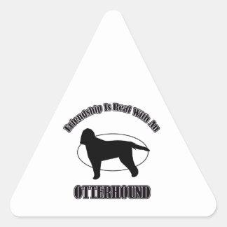 OTTERHOUND DOG DESIGNS TRIANGLE STICKER