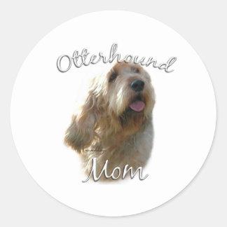Otterhound Mom 2 Round Sticker