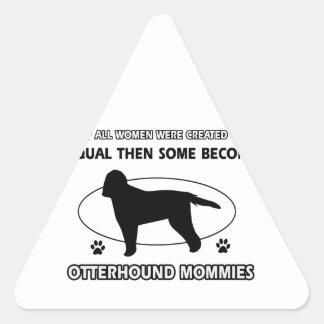 Otterhound Mommy Designs Triangle Sticker