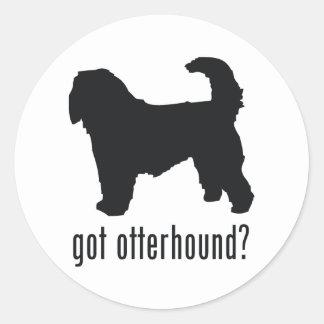 Otterhound Round Sticker