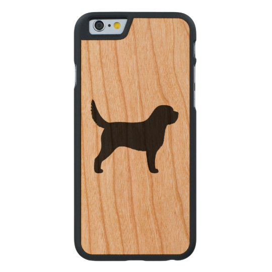 Otterhound Silhouette Carved Cherry iPhone 6 Case
