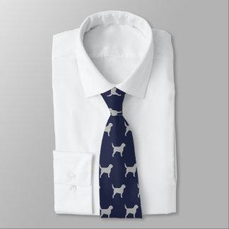 Otterhound Silhouettes Pattern Tie