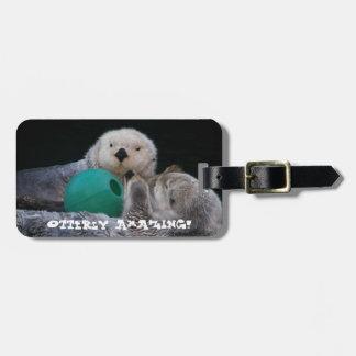 Otterly Amazing Sea Otters Photo Luggage Tag