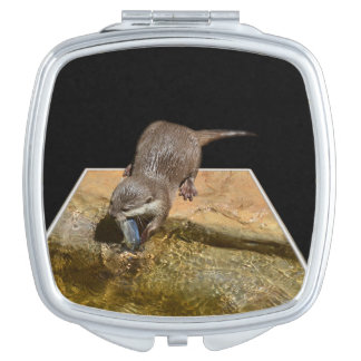 Otterly Delicious, Ladies Square Compact Mirror