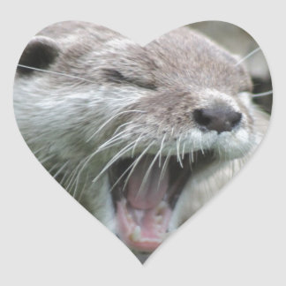Otterly Heart Sticker