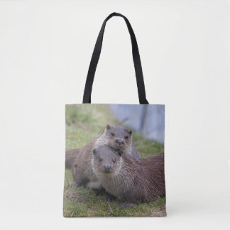 Otterly in Love All Over Print Bag