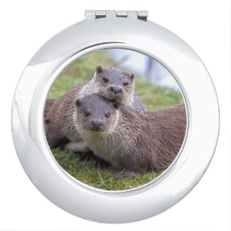 Otterly in Love Compact Mirror