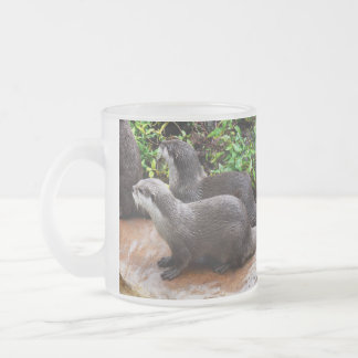 Otterly To Cute, Otter, Frosted Glass Mug