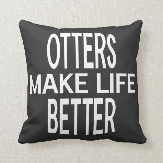 Otters Better Pillow - Assorted Styles & Colors