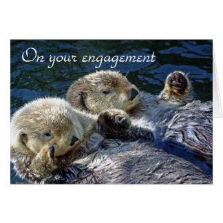 Otters engagement card