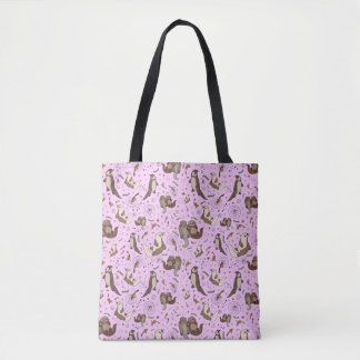 Otters in Love Tote Bag