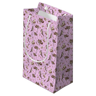 Otters in Pink Small Gift Bag