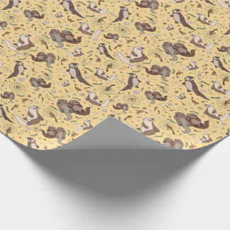 Otters in Yellow Wrapping Paper