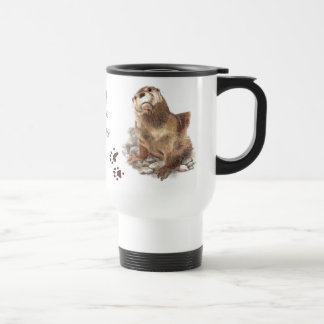 Otters left footprints on my heart, Cute Animal, Travel Mug