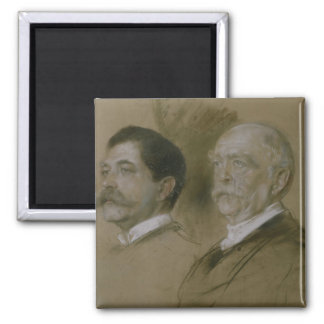 Otto von Bismarck and his Son Herbert Magnet