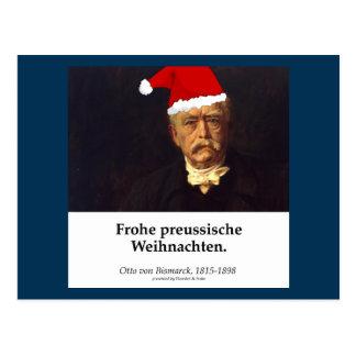 Otto von Bismarck - Frohe Preussische Weihnachten Postcard