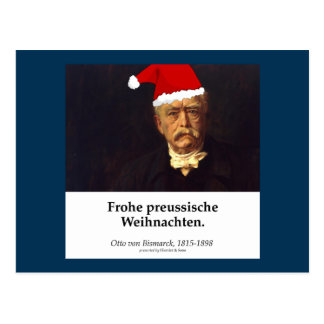 Otto von Bismarck - glad one Prussian Christmas Postcard
