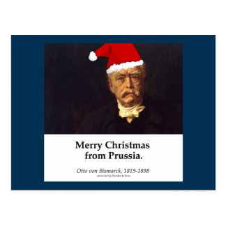 Otto von Bismarck - Merry Christmas from Prussia Postcard