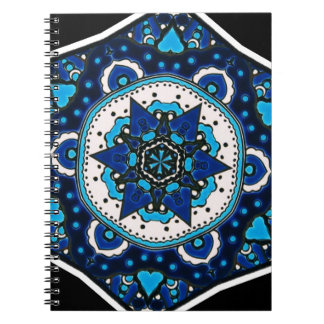 Ottoman  Islamic Tile Design With Geometry Spiral Note Book