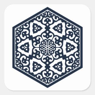 Ottoman pattern 6 sticker square