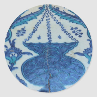 Ottoman Tile old Turkish lamp design Classic Round Sticker