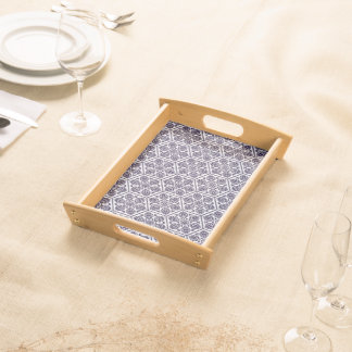 Ottoman turkish blue ware rosette design serving tray