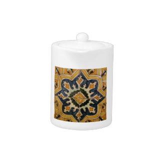 Ottoman Turkish vintage ceramic tile yellow star