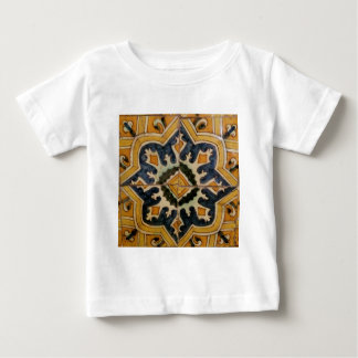 Ottoman Turkish vintage ceramic tile yellow star Baby T-Shirt